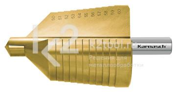 Ступенчатое сверло с прямой кромкой (2 зубца) Karnasch, арт. 21.3021