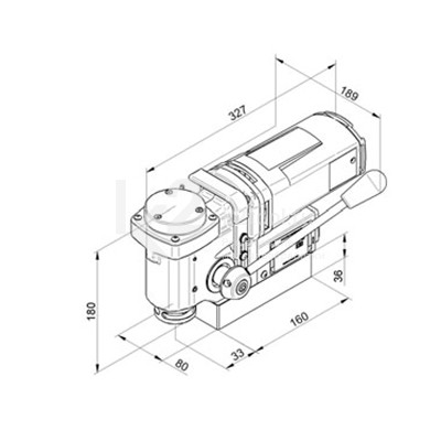 Чертеж магнитного сверлильного станка BDS MAB-150