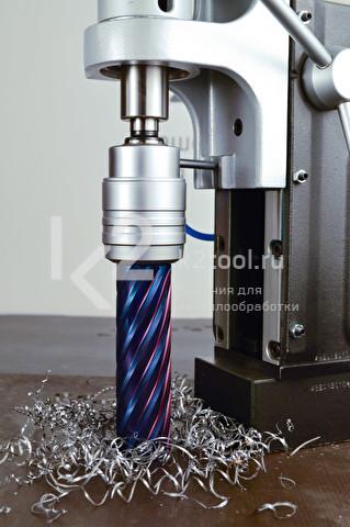 Корончатые сверла серии Blue-line Pro в работе