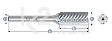 Борфреза: цилиндр с торцовыми зубьями