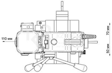 Схема позиционирования магнитного сверлильного станка BDS MAB-825 KTS