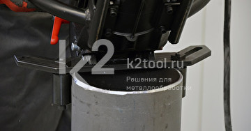 Ручной кромкорез BM-20 plus. Обработка трубы