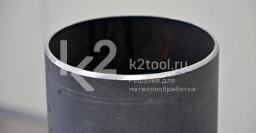Труба, обработанная ручным кромкорезом BM-20 plus