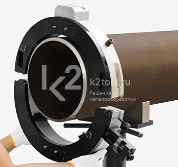 Монтаж разъёмного трубореза TVS-325 на трубе