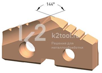 Сменная пластина из порошковой стали, покрытие Steel-Tec, Karnasch, арт. 22.2510