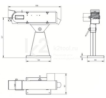 Двухскоростной ленточный шлифовальный станок PASOVEC 150