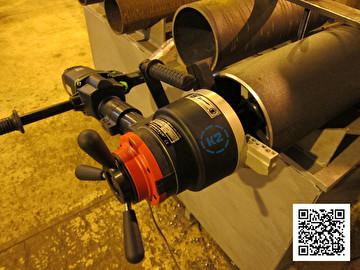 Снятие фаски с трубы кромкорезом ПРО-10 ПБ