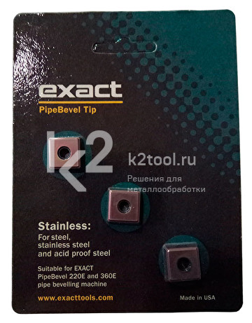 Твердосплавные пластины по нержавеющей стали для Exact PipeBevel 220E/360E