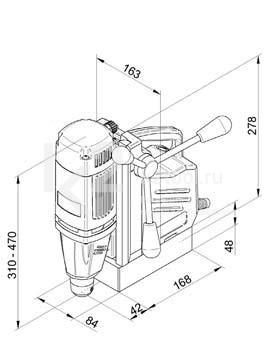 Чертеж магнитного сверлильного станка BDS MABasic 200