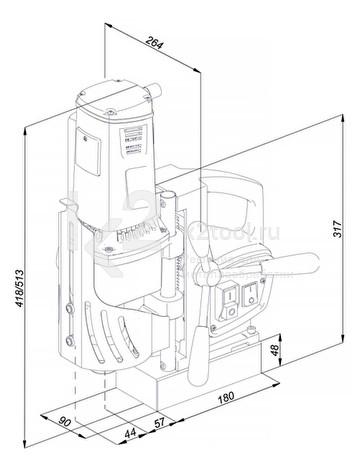 Магнитный сверлильный станок Promotech PRO-62