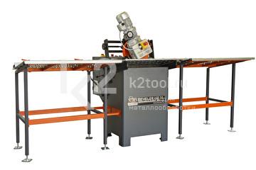 Стационарный кромкорез с автоматической подачей NKO UZ-30 с входным и выходным столом с регулируемыми упорами