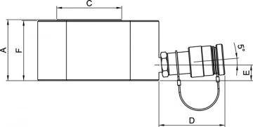 Домкраты с малым ходом и пружинным возвратом (HSC) - размеры