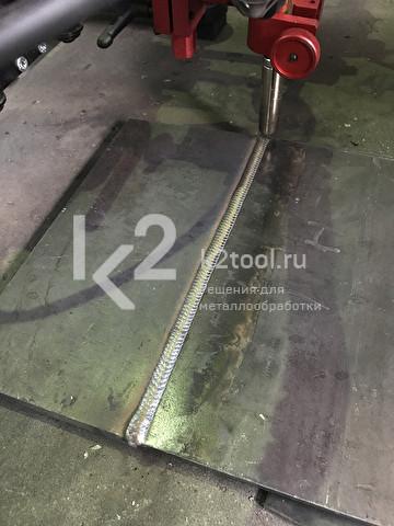 Процесс сварки сварочным трактором Rail Bull 2