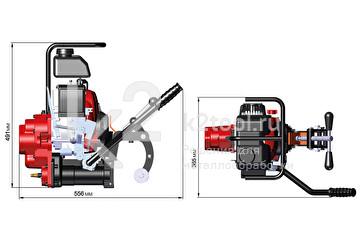 Габариты рельсосверлильного станка с бензиновым двигателем МСР-1M
