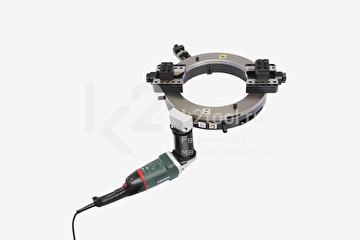 Разъёмный труборез и фаскосниматель TVS-1066 с электроприводом