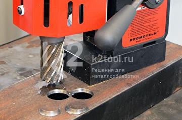 Сверление магнитным станком МС-35 авто