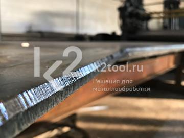 Кромка после обработки компактного кромкореза для листов и труб BM-7