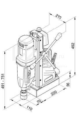 Чертеж магнитного сверлильного станка BDS MABasic 850