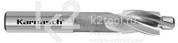 Цековка с постоянной цапфой для сквозных отверстий, 180°, из быстрорежущей стали XE, Karnasch, арт. 20.1791