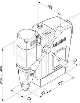 Чертеж магнитного сверлильного станка BDS AkkuMAB 3000