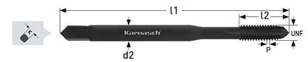 Метчики HSSE-V3, для сквозных отверстий, Karnasch, арт. 20.2340