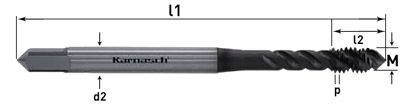 Метчики HSSE-PM, для глухих отверстий, Karnasch, арт. 20.2053