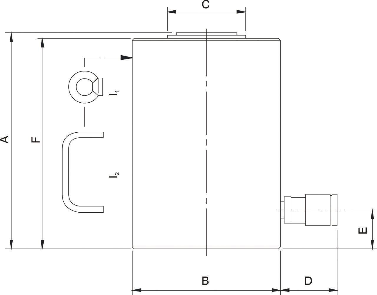 Схема высокотоннажных домкратов Holmatro с гравитационным возвратом