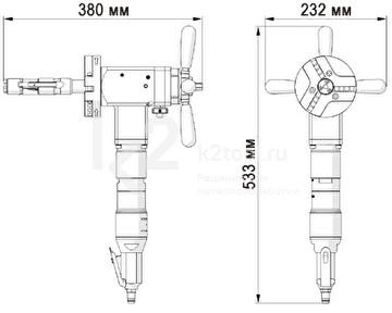 Машина для снятия фаски с труб ПРО 5 ПБ - габариты