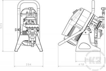 Автоматический кромкорез (фаскосниматель) UZ-12 Ультралегкий - Размеры