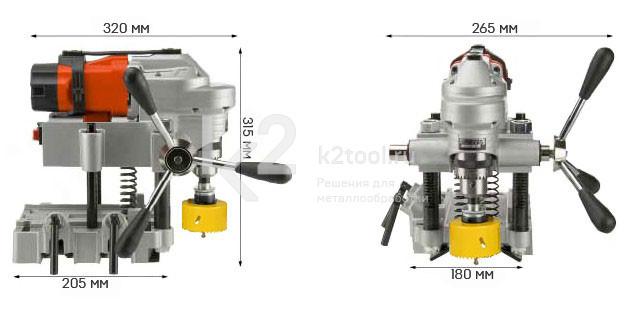 Станок для сверления отверстий в трубах AGP Power Tools HC127 - габариты