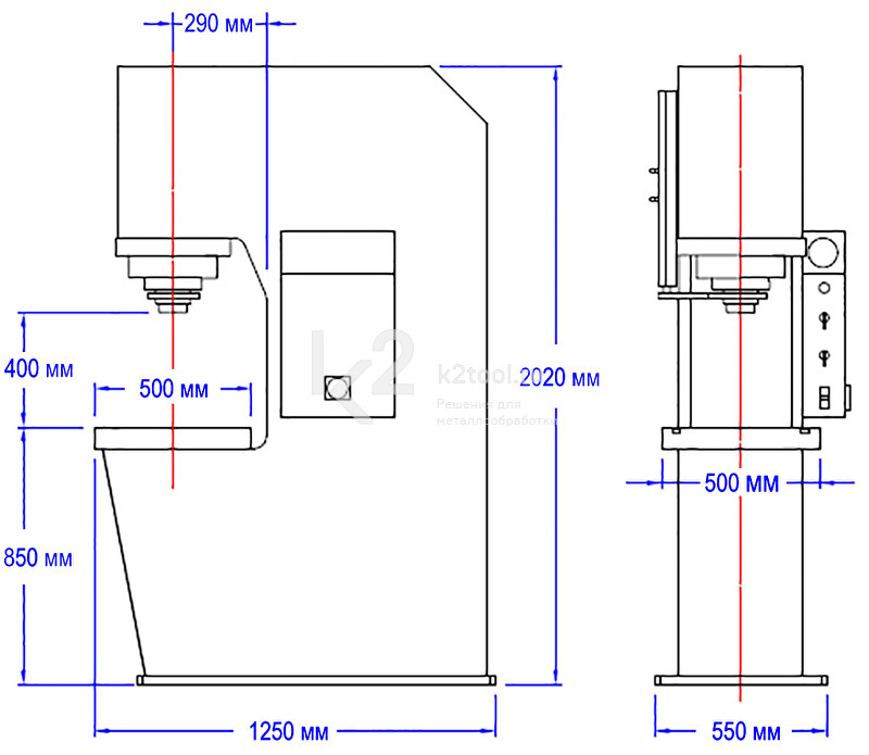 Гидравлический пресс с С-образной жесткой станиной RHTC CD-80