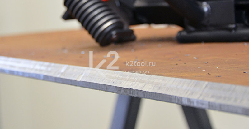 Ручной кромкорез BM-20 plus. Обработанная кромка