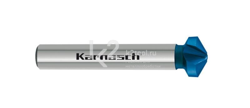Конусообразная зенковка из быстрорежущей стали XE с покрытием BLUE-TEC, Karnasch артикул 40.3040