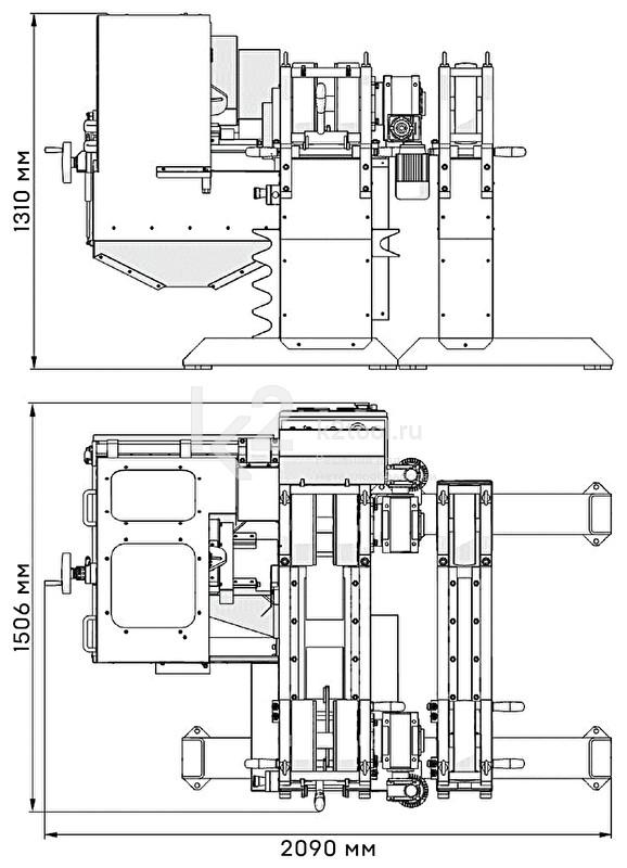 Габариты машины для снятия фаски с труб PRO-40 PBS (ПРО 40 ПБС)