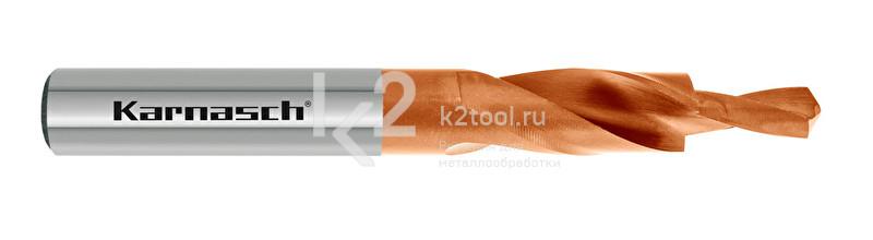 Короткие ступенчатые спиральные сверла, 90° (под винты с потайной головкой), HSS-XE с покрытием TITAN-TEC, Karnasch, арт. 40.2050