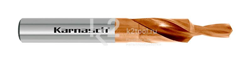 Короткие ступенчатые спиральные сверла, 90° (под винты с потайной головкой), HSS-XE с покрытием TITAN-TEC, Karnasch, арт. 40.2040