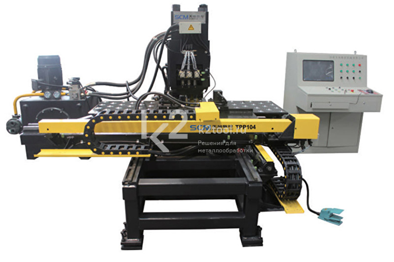 Гидравлический станок с ЧПУ для пробивки, сверления и маркировки листового проката TPPD104/TPPRD104