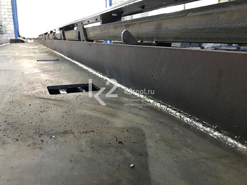 Сварной шов, выполненный с помощью Rail Tug