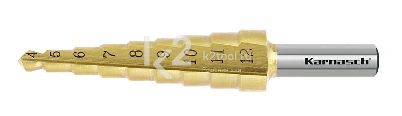 Ступенчатое сверло с прямой кромкой (2 зубца) Karnasch, арт. 21.3033