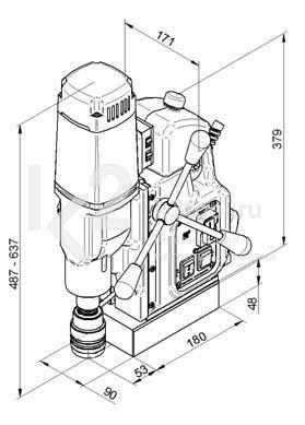 Чертеж магнитного сверлильного станка BDS MAB-525 SB