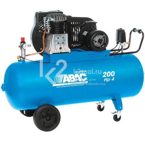 Ременной двухступенчатый масляный компрессор ABAC B4900 200 CT 4
