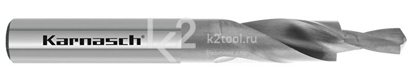 Короткие ступенчатые спиральные сверла, 90° (под винты с потайной головкой), HSS-XE, Karnasch, арт. 40.1040