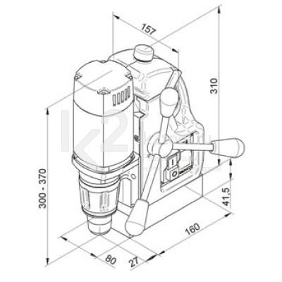 Чертеж магнитного сверлильного станка BDS MAB-100