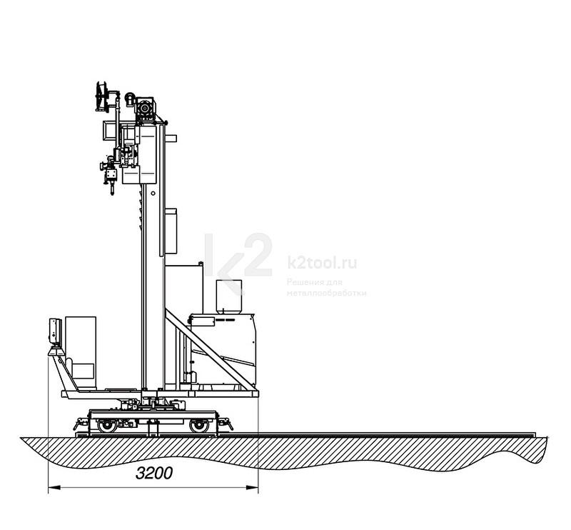 Сварочные колонны и линии Promotech SAW/MIG-MAG, габариты