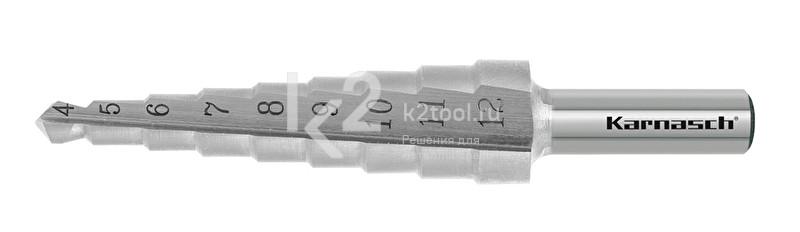 Ступенчатые сверла с прямой кромкой (2 зубца) Karnasch, арт. 21.3030