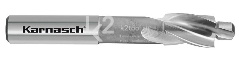 Цековки с постоянной цапфой для сквозных отверстий, 180° (под винты с цилиндрической головкой), HSS-XE, Karnasch, арт. 20.1792