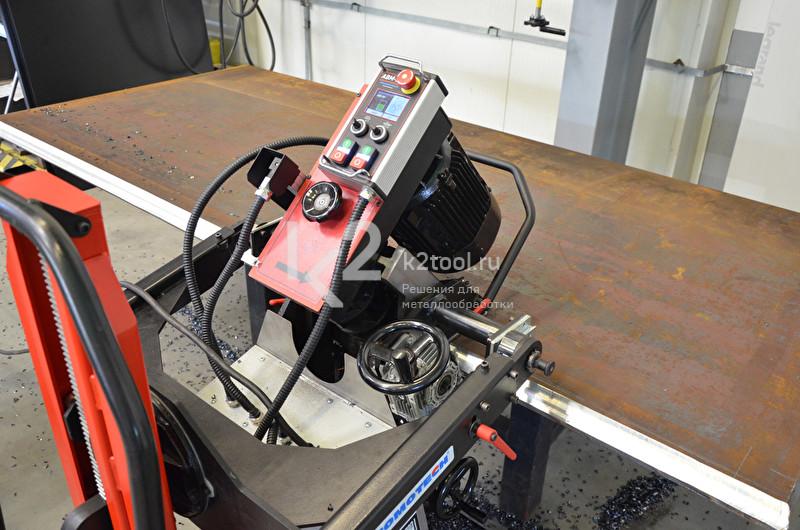 Машина с автоматической подачей для двуxстороннего снятия фаски Promotech ABM-50