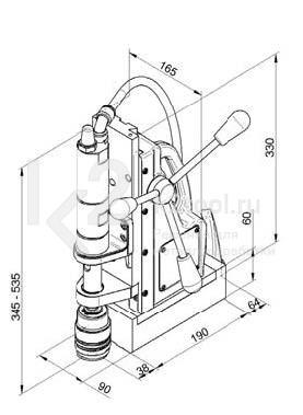Чертеж магнитного сверлильного станка BDS AirMAB 5000