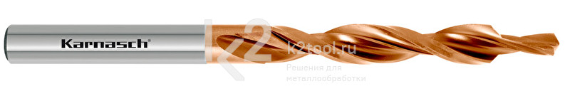 Ступенчатые спиральные сверла, 90° (под винты с потайной головкой), HSS-XE с покрытием TITAN-TEC, Karnasch, арт. 40.2010