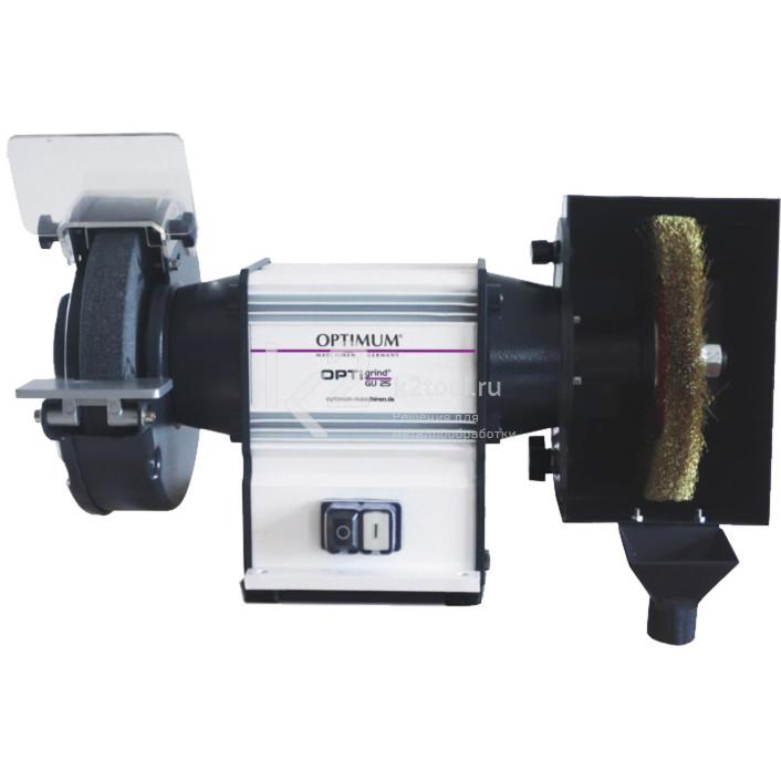 Точильный комбинированный станок Optimum GU20B (230 В)